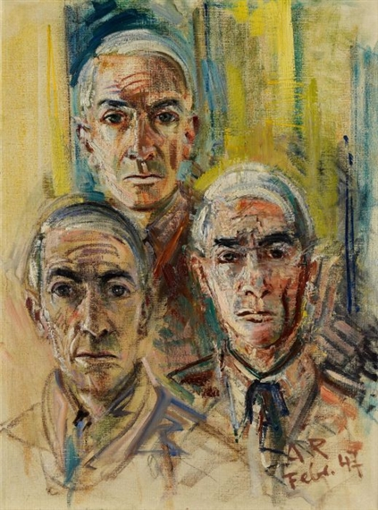 arte e malattia Anton Räderscheidt tre autoritratti 1947