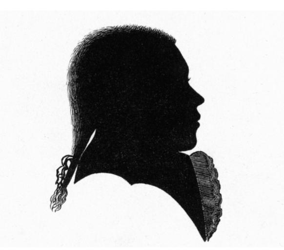 Silhouette di Beethoven a sedici anni
